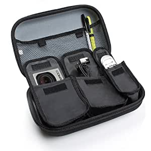 USA Gear GoPro Accessory Protective Hard Shell Case Featuring Interior Organisation Pouch and Large Mesh Compartment- Works with GoPRO Hero 4 , HERO 3 HD , HERO 2 , HERO & Other GoPro Accessories * Bonus Cleaning Brush & Card Reader*