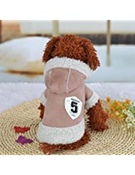 Ropa para Perros,Xinan Camiseta Abrigo de Cachorro Ropas Invierno Perro Yorkie (Khaki, M)