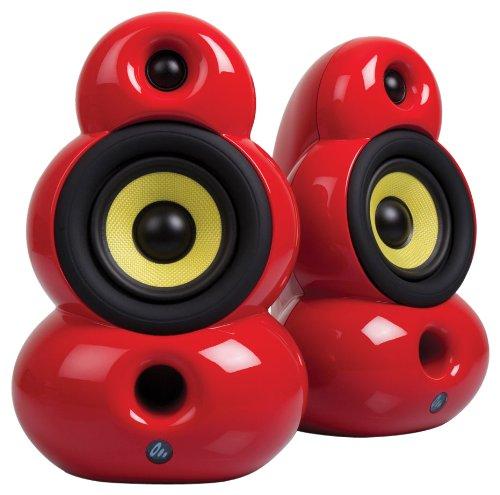 Scandyna SmallPod Bluetooth Active Lautsprechersystem (2 x 40 Watt) rot