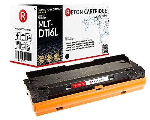SONDERANGEBOT : Original Reton Toner je 4.000 Seiten kompatibel, Schwarz für Samsung MLT-D116L /ELS (M2625), Xpress M2625, M2625D, M2675FN, M2820DW, M2825 DW/ND, M2835DW, M2870FW, M2875 FD/FW/ND, M2885FW