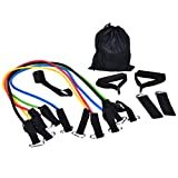 SevenMye Exercise Band Kit, Resistance Band Set, Fitness Tubes with Door Anchor, Ankle Straps,Carrying Pouch for Building Muscle, Fat Loss, Rehabilitative Exercises, Indoor or Outdoor Use