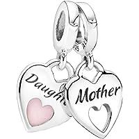 Pandora Doppeltes Herz Charm-Anhänger, Sterling-Silber799187C01