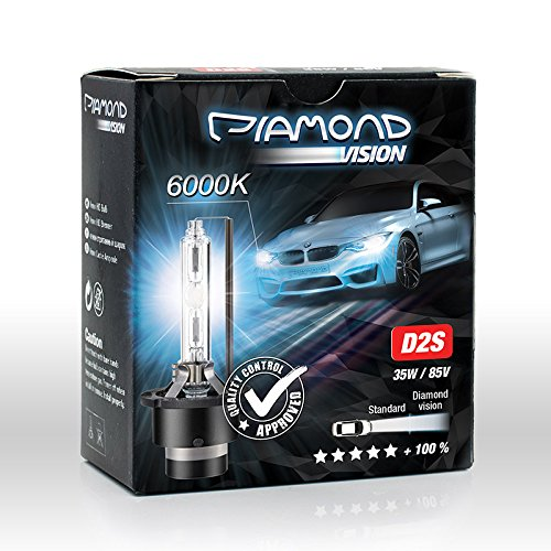 D2S Xenon Brenner HID 35W 85V 6000K von Diamond Vision für Abblendlicht Fernlicht Entladungslampe Brenner Lampen Birnen Night Breaker Bulbs