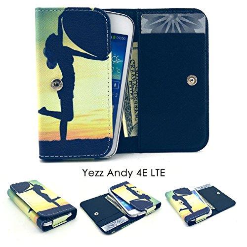 ZEWOO Etui/Portefeuille en Similicuir pour Yezz Andy 4E LTE (4 Pouces) Coque Housse Protecteur - (2#) l'ombre d'une Fille