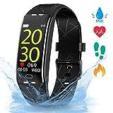 Gopark Fitness Armband, Smartwatch mit Pulsmesser Fitness Tracker Aktivitätstracker IP68 Wasserdicht Schrittzähler für Frauen Männer, Smart Watch Uhr für Android iOS