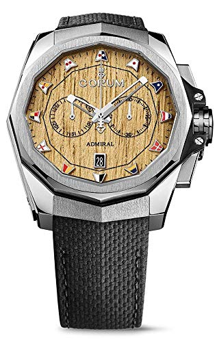 Corum Admiral 45 Chronograph Steel Automatic Wood Dial Mens Watch Calendar 116.101.20/F249 AW02