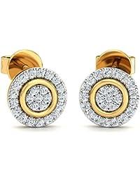 Stylori 18k Gold and Diamond Ryna Encrusted Stud Earrings