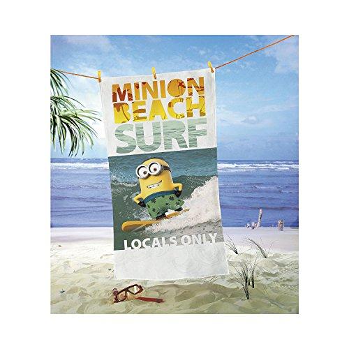 Minions - Badetuch Strandtuch - Minion Beach Surf - 150 x 75 (Kevin Der Minion Kostüm)