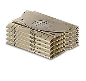 Kärcher Sachet filtre papier accessoires pour les aspirateurs eau et poussières WD 2 Premium, A 2120, A 3001, A 2501, A 2601 et WD 2500
