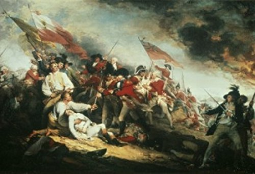 John Trumbull - The Death of General Warren at the Battle of Bunker Hill 17 June 1775 1786 John Trumbull (1756-1843 American) Oil on canvas Yale University Art Gallery New Haven CT USA Poster Drucken (60,96 x 91,44 cm)