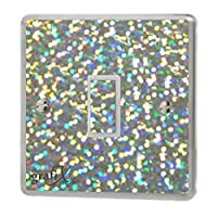 the grafix studio Silver Sequin Sparkle Light Switch Sticker Vinyl/Skin cover