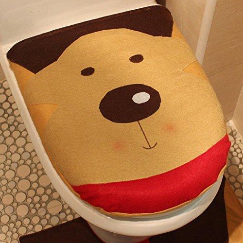 Weihnachten Decor Jolly Schneemann Deckel WC-Cover, weiches Cute Holiday Spirit Go Booster WC-Sitz...