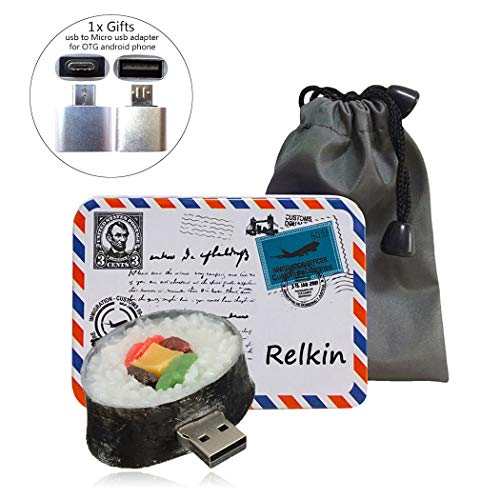 Relkin cute funny cartoon usb pollice flash drive memory stick pen drive regalo novità a forma di cibo sushi 4gb