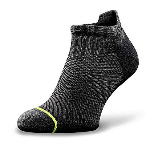 ROCKAY Accelerate - Running-Socken für Damen & Herren mit Bio-Merinowolle, Atmungsaktive Sportsocken, Anti-Blasen, Schweißfüße Socken, tolle Passform, Laufsocken mit Blasenschutz