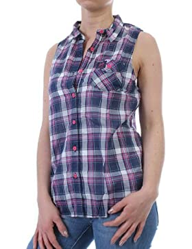 Superdry Bluse Women - OPEN AIR SHEER - Optic Pink Confederate