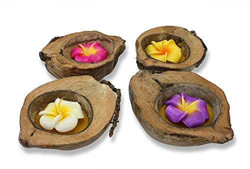 Farang Vela de coco tailandés con flores