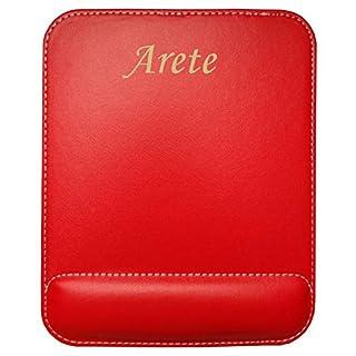 Kundenspezifischer gravierter Mauspad aus Kunstleder mit Namen Arete (Vorname/Zuname/Spitzname)