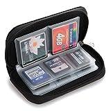 QHGstore 22 emplacements de carte mémoire carte SD de stockage pochette de transport Porte-monnaie Case Bag