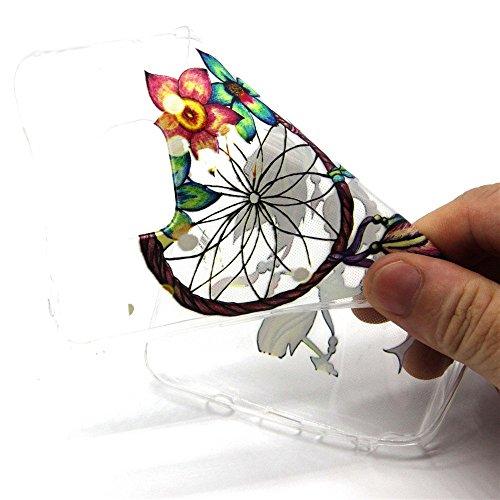 iPhone 6S Hülle, iPhone 6 Hülle, SainCat iPhone 6S / 6 Silikon Hülle Tasche Handyhülle [Kratzfeste, Scratch-Resistant] TPU Gel Case Weiches Schutzhülle Silikon Crystal Kirstall Clear Case Durchsichtig Campanula Blumen