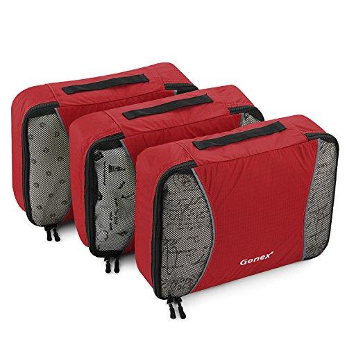Gonex – 3 packs Packing Cubes Organizadores de Equipaje/Viaje Bolsas