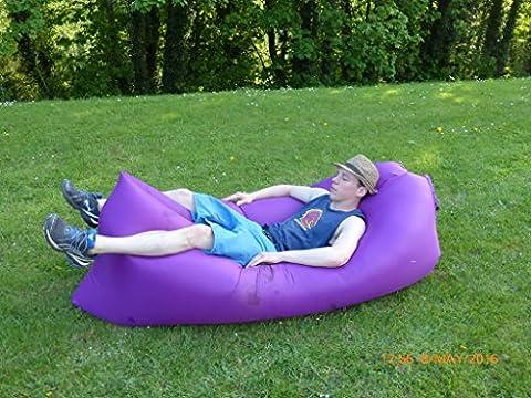 Inflatable air bed, bean bag, picnic chair, camping sofa, beach chair