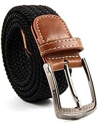 MultiWare Elasticated Woven Belt Stretch Belt For Men Black