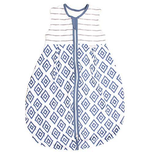 Emma & Noah Baby Schlafsack, Kugelschlafsack, Übergangsschlafsack (1.0 Tog), 100{4a44a7ebf8a7cf3318e6f9cb3183a14fb49f1a651bf21308bdca62e81ec0b6cc} Baumwolle, Größe: 70 cm, Farbe: Blau, ideal als Babyschlafsack …