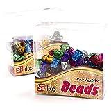 Perline grandi per dread, confezione da 50 pezzi, anellini per capelli, regolabili