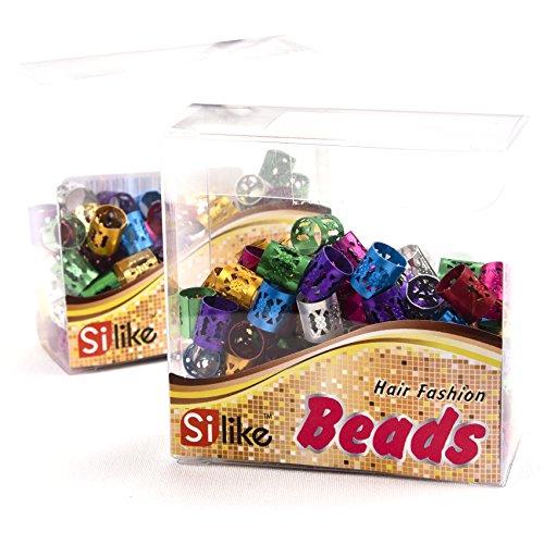 locks Geflecht Perlen (50pics/viele) Haar Ringe verstellbar Haar Braid Cuff Clip (Haarspangen Für Dreads)