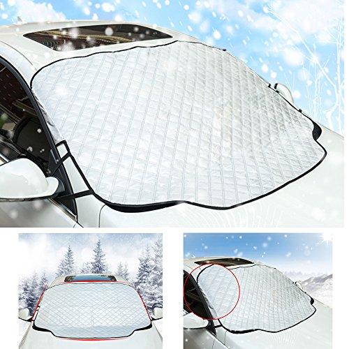 Preisvergleich Produktbild JZF Auto Windschutzscheibe Schnee, Sonne Schatten Displayschutzfolie, Schnee, Eis, Sonne und Frostwächter in alle Wetter–Passform für die meisten Autos und SUV