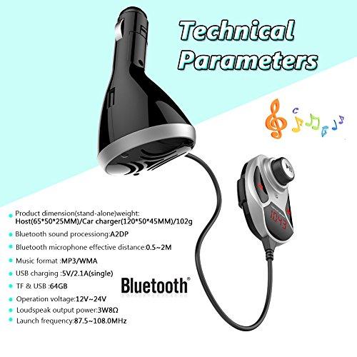 Flash-multimedia-speicherkarte (EinCar Auto-MP3-Player Auto-Kit Wireless-Bluetooth-Freisprecheinrichtung MP3-Player-FM Audiomusik-Empfänger Audio Adpater Unterstützung SD/MMC-Speicherkarte und USB-Flash-Car Kit Ladegerät)