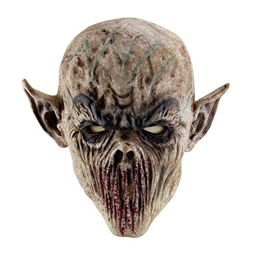 BOENZN Creepy Scary Halloween Cosplay Kostüm Maske - Für Erwachsene Party Dekoration Requisiten