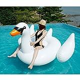 Aufblasbarer Schwan Mounts - Safety Aid Schwimmring Weich Und Langlebig Für Erwachsene Und Kinder 188 * 175 * 115cm
