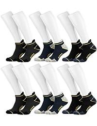 Tobeni 6 paires hommes de chaussettes de travail et de loisir TAB Sneakers - Bottes avec talon et orteils renforces