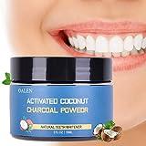 Aktivkohle,Bleaching Zähne,zahnaufhellung,Natürliche Zahnaufhellung,Teeth Whitening,Activated Charcoal Teeth Whitening Powder mit Zahnbürste- zur Zahnaufhellung & Zahnreinigung für natürlich weiße Zähne