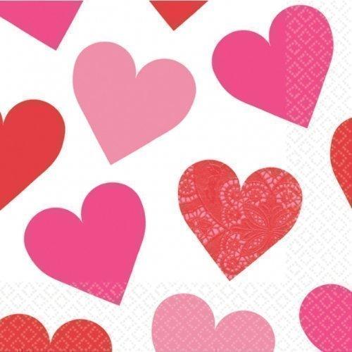 San Valentino Chiave del tuo cuore pattern partito tovaglioli di carta x 16