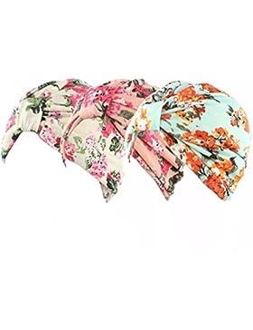 Gorro Ever Fairy turbante de algodón con estampado floral para mujer