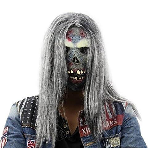 Mask Loveso Halloween Party Horror Kopfmaske Wacky Maske Cosplay Schablone Terror Mischief Mask (Böse Braut Halloween-kostüm)