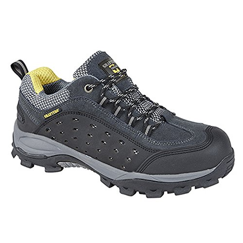 Grafters Herren Super Light Verbundmaterial nicht metallischer Safety Trainers Dunkelgrau
