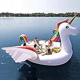 Riesige aufblasbare Einhorn 6 Personen Party Insel (Party Bird Island - Unicorn)