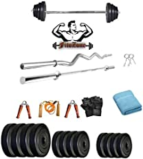 FIToZONE 30 Kg PVC Home Gym Combo Set