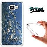 BeCool® Fun - Coque Etui Housse en GEL Flex Silicone TPU Samsung Galaxy A5 2016 , protège et s'adapte a la perfection a ton Smartphone et avec notre design exclusif.Banc de poissons