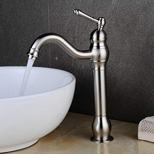 �rstet Bad Wasserhahn 360° Schwenkbarer Hoch Waschtischarmatur Einhebelmischer Mischbatterie Waschbeckenarmatur Badarmatur Hoher Auslauf Badezimmer ()