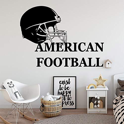 YuanMinglu American Cartoon Football bewegliche Wand wandaufkleber wanddekoration Wohnzimmer Schlafzimmer abnehmbare Kunst Aufkleber 64,5X88,5 cm