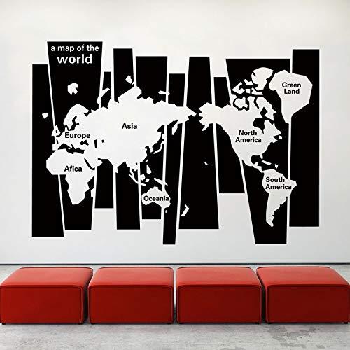 40 cm X 58 cm Kunst Design Dekoration Quadrat Karte Wandaufkleber Abnehmbare Haus Dekor Kreative Schöne Abziehbilder