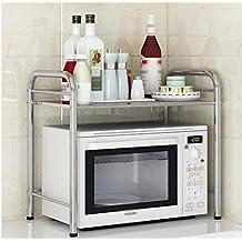 LFFSHELF Estable Acero Inoxidable Cocina de Horno de microonda Estantería  de la Cocina Aterrizaje Mesa de 27a7b9b0c9d0