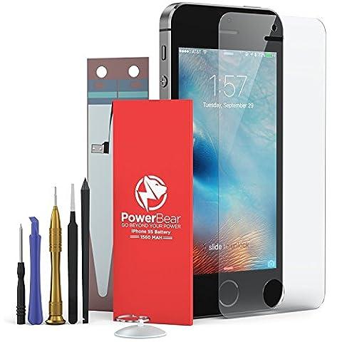 Batterie PowerBear iPhone 5S/5C [1440mAh] Batterie de Remplacement Nouvelle et