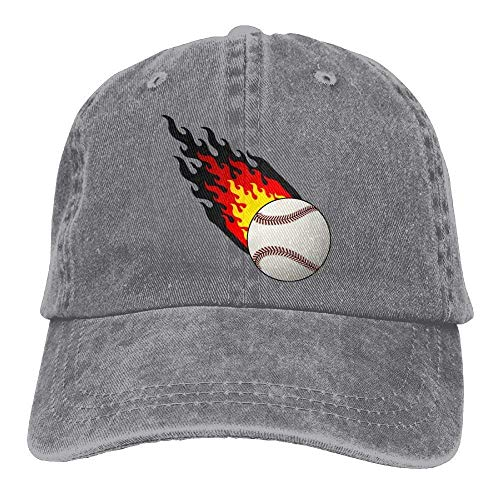 Preisvergleich Produktbild Presock Burning Baseball Denim Hat Adjustable Men Fitted Baseball Caps