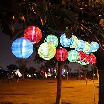 Innoo Tech 3.3M Guirlande Lumineuse Solaire, 20 LED lanterne chinoise, d¨¦coration pour No?l, f¨ºte, mariage, jardin, porche etc(Multicolore)