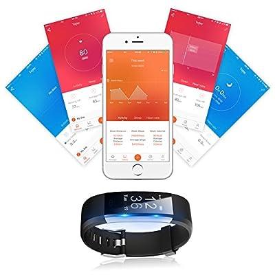 Lintelek Fitness Tracker, Large OLED Touch Screen Activity Tracker from Lintelek